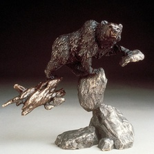 "Bear Bronze Sculpture ""Bear"" 
