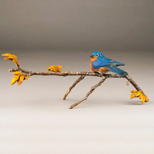 "Bluebird Sculpture | ""Blue Skies"" Bronze Sculpture 