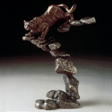 "Cougar Bronze Sculpture ""Cougar"" 