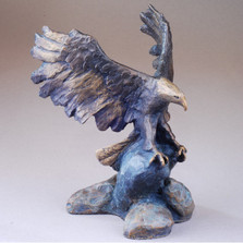 "Eagle Bronze Sculpture ""Defending Liberty"" 