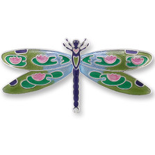 Dragonfly Montage Silver Plated Pin | Zarah Jewelry | 32-15-Z2