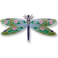 Dragonfly Montage Silver Plated Pin | Zarah Jewelry | 32-15-Z2