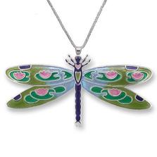 Dragonfly Montage Silver Plated Necklace | Zarah Jewelry | 32-15-Z2P