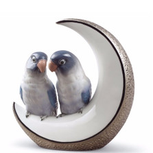 "Birds Porcelain Figurine ""Fly Me to The Moon"" 