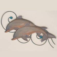 Dolphin Pair Wall Sculpture | TI Design | CW156SP