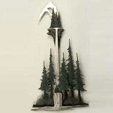 Pine Tree Forest Metal Wall Sculpture | TI Design | CA602