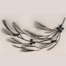 Pine Tree Branch Facing Left Wall Sculpture | TI Design | CA608L