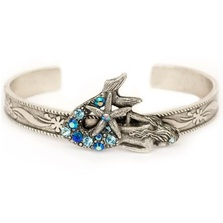 Mermaid With Starfish Bangle Bracelet | Nature Jewelry | BR9501BL