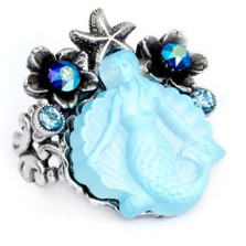 Mermaid Glass Ring | Nature Jewelry | RG9500BL