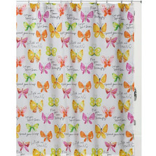 "Butterfly Shower Curtain ""Flutterby"" 