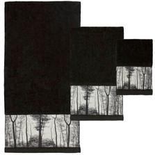 "Trees Towel Set ""Sylvan"" | TP1214BLKBHW"