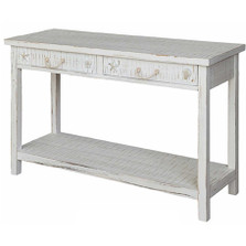 Shell and Starfish Seaside Sand Console Table | Crestview Collection | CVCVFZR1520