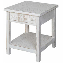 Shell and Starfish Seaside Sand End Table | Crestview Collection | CVFZR1521