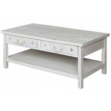 Shell and Starfish Seaside Sand Coffee Table Crestview Collection | CVFZR1522