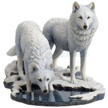 Wolf Sculpture | Winter Warriors | Unicorn Studios | WU77057AA