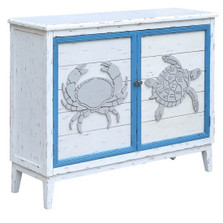 Crab and Turtle 2 Door Cabinet | Crestview Collection | CVFZR2247