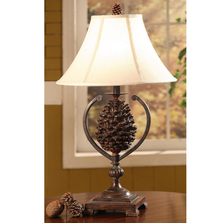 Pine Cone Accent Lamp | Crestview Collection | CVAMP341