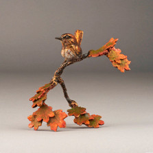 "Bronze Bird and Flower Sculpture ""Morning Breaks"" 72045 