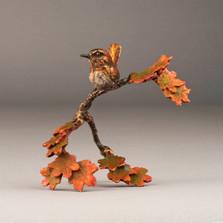 "Bronze Bird and Flower Sculpture ""Morning Breaks"" 72045 | Mark Hopkins | 72045"