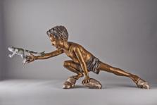 "Frog and Boy Bronze Sculpture ""Mud Buddies"" | Mark Hopkins | 57021"