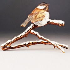 "Chickadee Bronze Sculpture ""Snowbird"" 72026 Mark Hopkins 