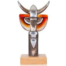 Bull Iron and Crystal Sculpture | Taurus III | 68145 | Mats Jonasson Maleras