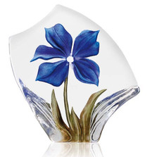 Obia  Blue Flower Crystal Sculpture | 34019 | Mats Jonasson Maleras