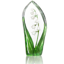 Lily of the Valley Crystal Sculpture | 34215 | Mats Jonasson Maleras