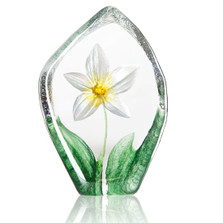 Windflower Crystal Sculpture | 34218 | Mats Jonasson Maleras