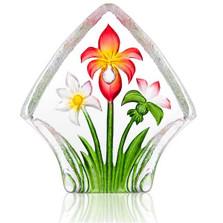 Flower Crystal Red Bouquet Sculpture   34248   Mats Jonasson Maleras