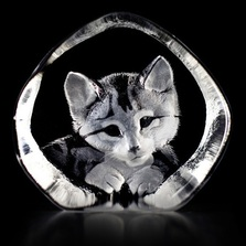 Cat Crystal Sculpture | 33729 | Mats Jonasson Maleras