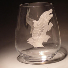 Alligator Stemless Wine Glass Set of Four | 23 oz | Evergreen Crystal | EC002-623