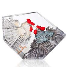 Roosters LTD ED Crystal | Fighting Roosters II | 34251 | Mats Jonasson Maleras