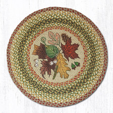 Autumn Leaves Round Braided Rug | Capitol Earth Rugs | RP-24