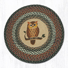 Owl Round Braided Rug | Capitol Earth Rugs | RP-220