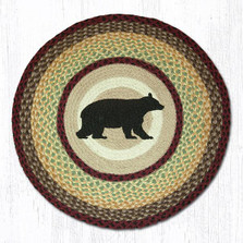 Cabin Bear Round Braided Rug | Capitol Earth Rugs | RP-395
