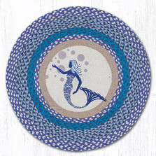 Blue Mermaid Round Braided Rug | Capitol Earth Rugs | RP-527