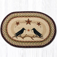 Crow Oval Braided Rug | Capitol Earth Rugs | OP-19CBS