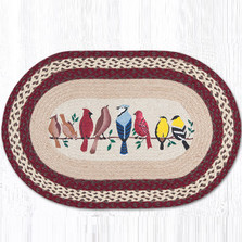 Birds on a Wire Braided Rug | Capitol Earth Rugs | OP-501