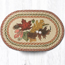 Autumn Leaves Oval Braided Rug | Capitol Earth Rugs | OP-24AL