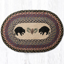 Black Bear Oval Braided Rug | Capitol Earth Rugs | OP-43BB