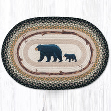 Bear Cub and Mama Oval Braided Rug | Capitol Earth Rugs | OP-116MB