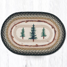 Pine Trees Oval Braided Rug | Capitol Earth Rugs | OP-116TT