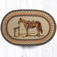 Horse Oval Braided Rug | Capitol Earth Rugs | OP-129