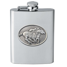 """Racehorse Flask """"By a Nose"""" 