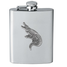 Alligator Flask | Heritage Pewter | HPIFSK3770