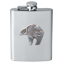 Bear Tribal Design Flask | Heritage Pewter | HPIFSK3999