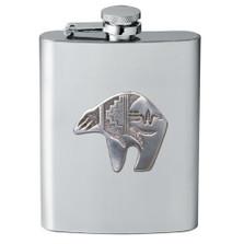 Bear Tribal Design Flask | Heritage Pewter | HPIFSK3999