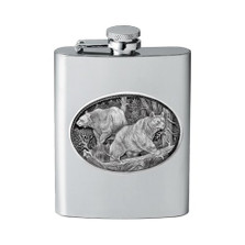 Black Bear Flask | Heritage Pewter | HPIFSK113