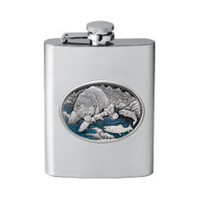 Brown Bear Flask | Heritage Pewter | HPIFSK118EB
